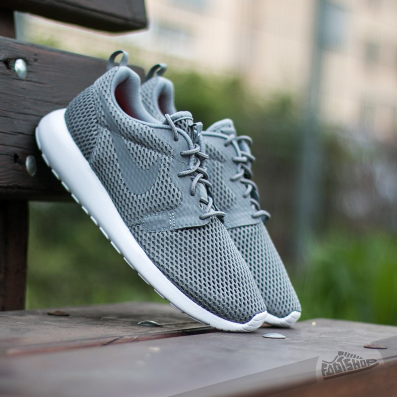 Nike Roshe One Hyp BR Cool Grey  Cool Grey- White  d0e889b50