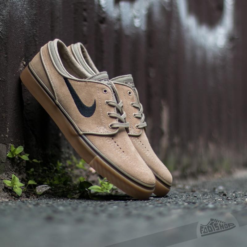 Nike Zoom Stefan Janoski Khaki  Black- Gum Light Brown  fabe43d6239e