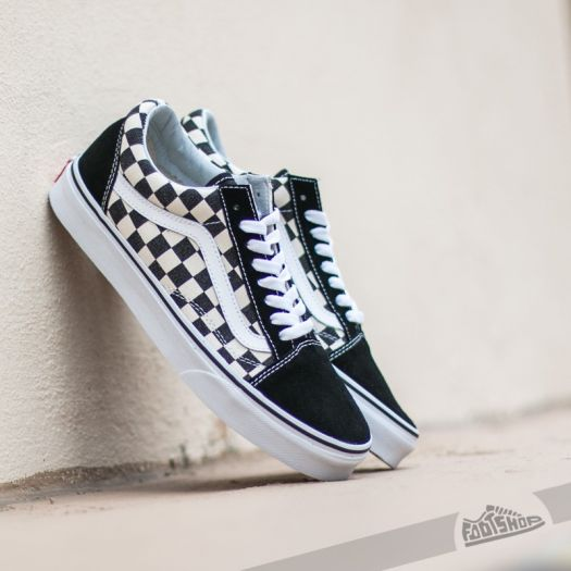 Vans Old Skool (CHECKERBOARD) Black | Footshop