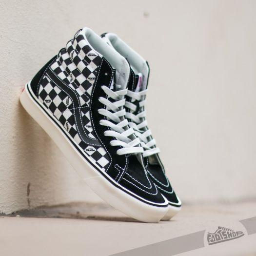 Vans Sk8‐Hi Lite SuedeCanvas BlackWhite Shoes