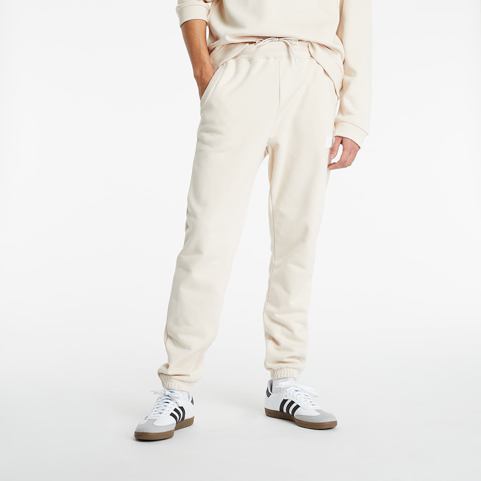 adidas R.Y.V. Silicone Double Linear Badge Sweatpants Halo Ivory L