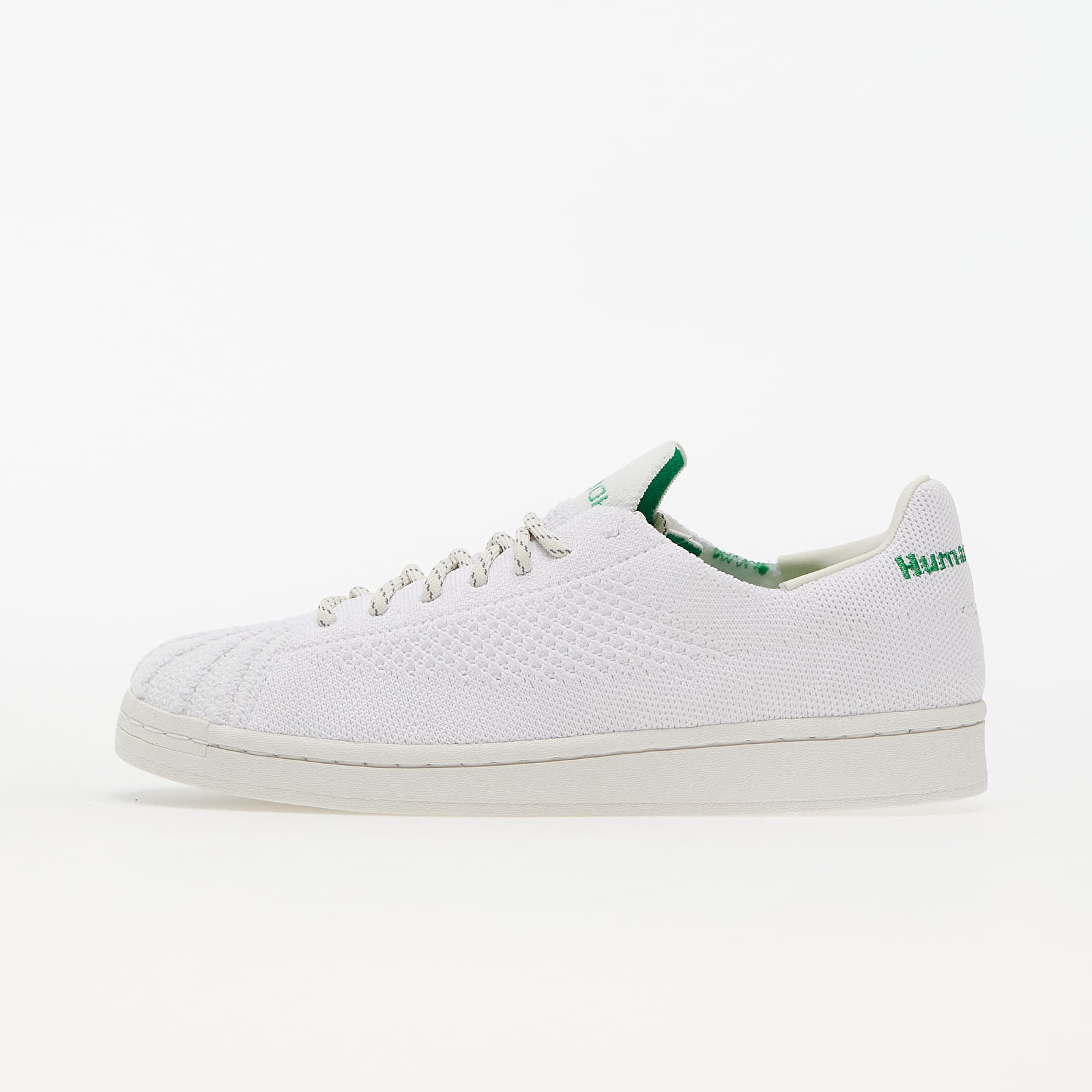 adidas x Pharrell Williams Superstar Primeknit Core White/ Core White/ Vivid Green EUR 42 2/3