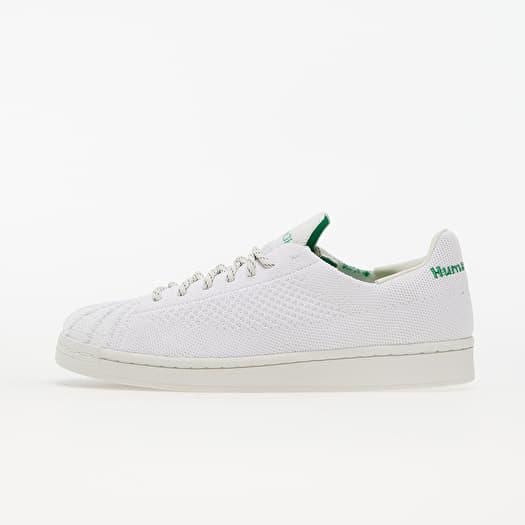 adidas x Pharrell Williams Superstar Primeknit Core White/ Core White/ Vivid Green   Footshop