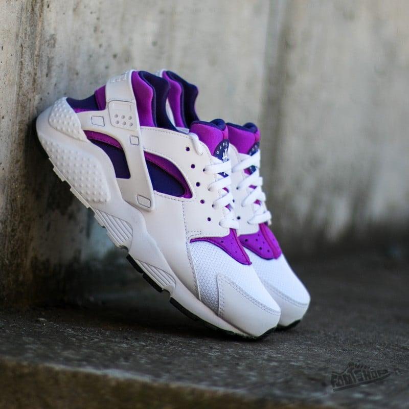Nike Huarache Run (GS) White  White-Hyper Violet-Court Purple ... 9b09513069