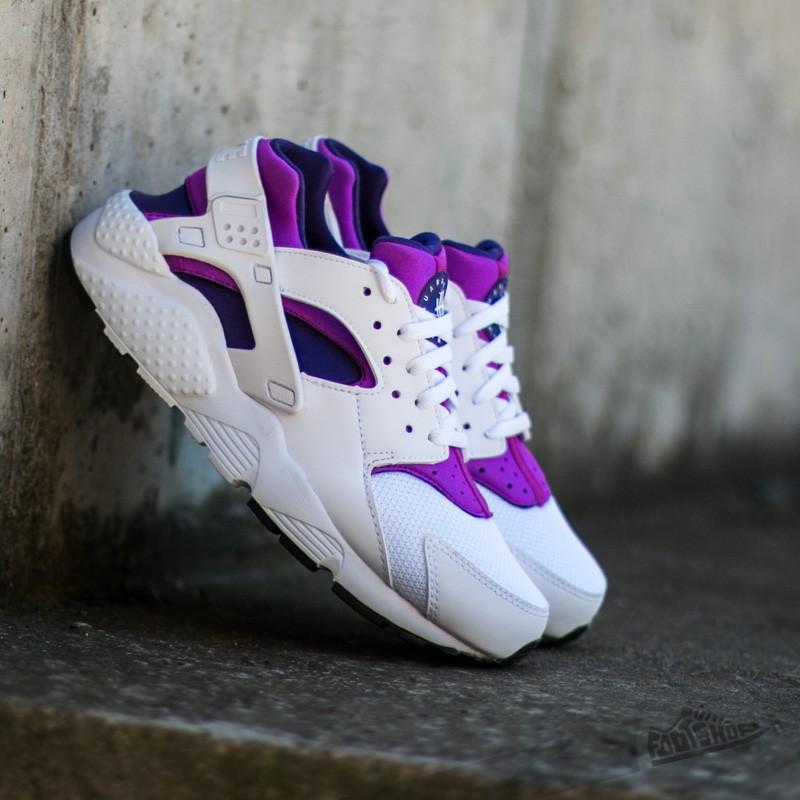 ea61d3df0b3e4 Nike Huarache Run (GS) White  White-Hyper Violet-Court Purple ...