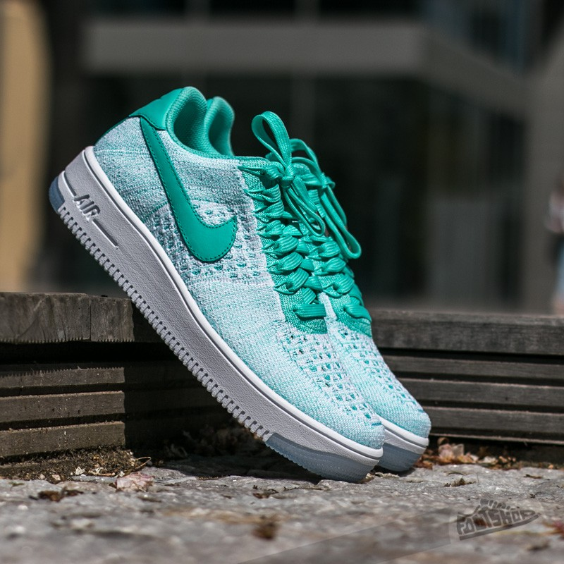 af330cee805 Nike Wmns Air Force 1 Flyknit Low Hyper Turq/ Hyper Turq | Footshop