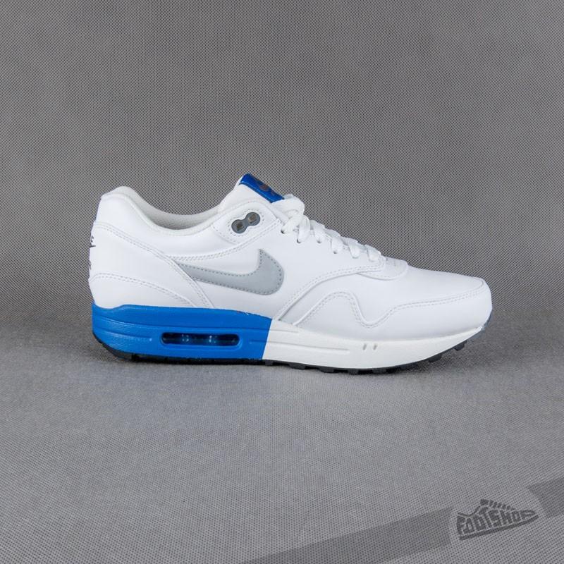huge discount 71a5e 6cacb Nike Air Max 1 Premium White Wolf Grey - Blue