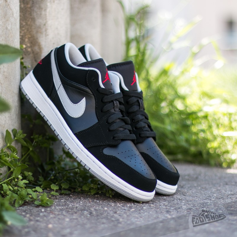 Air Jordan 1 Low Black  Gym Red-Wolf Grey-White  fb96d15be3