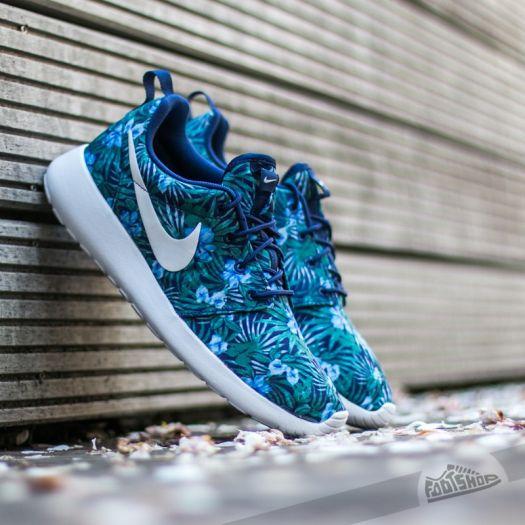 Nike Roshe One Print Premium Royal Blue White | Footshop