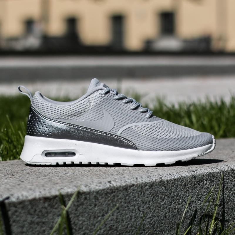 W Nike Air Max Thea Txt Wolf Grey Wolf Grey White Metalic