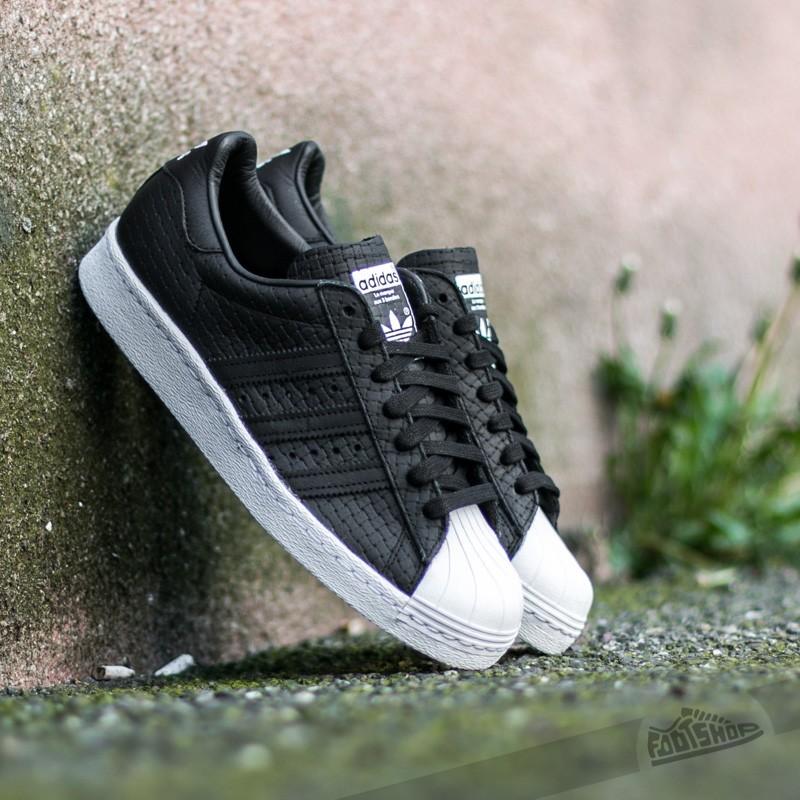 518ab5f89a6 adidas Superstar 80s Woven Core Black  Core Black  Core Black