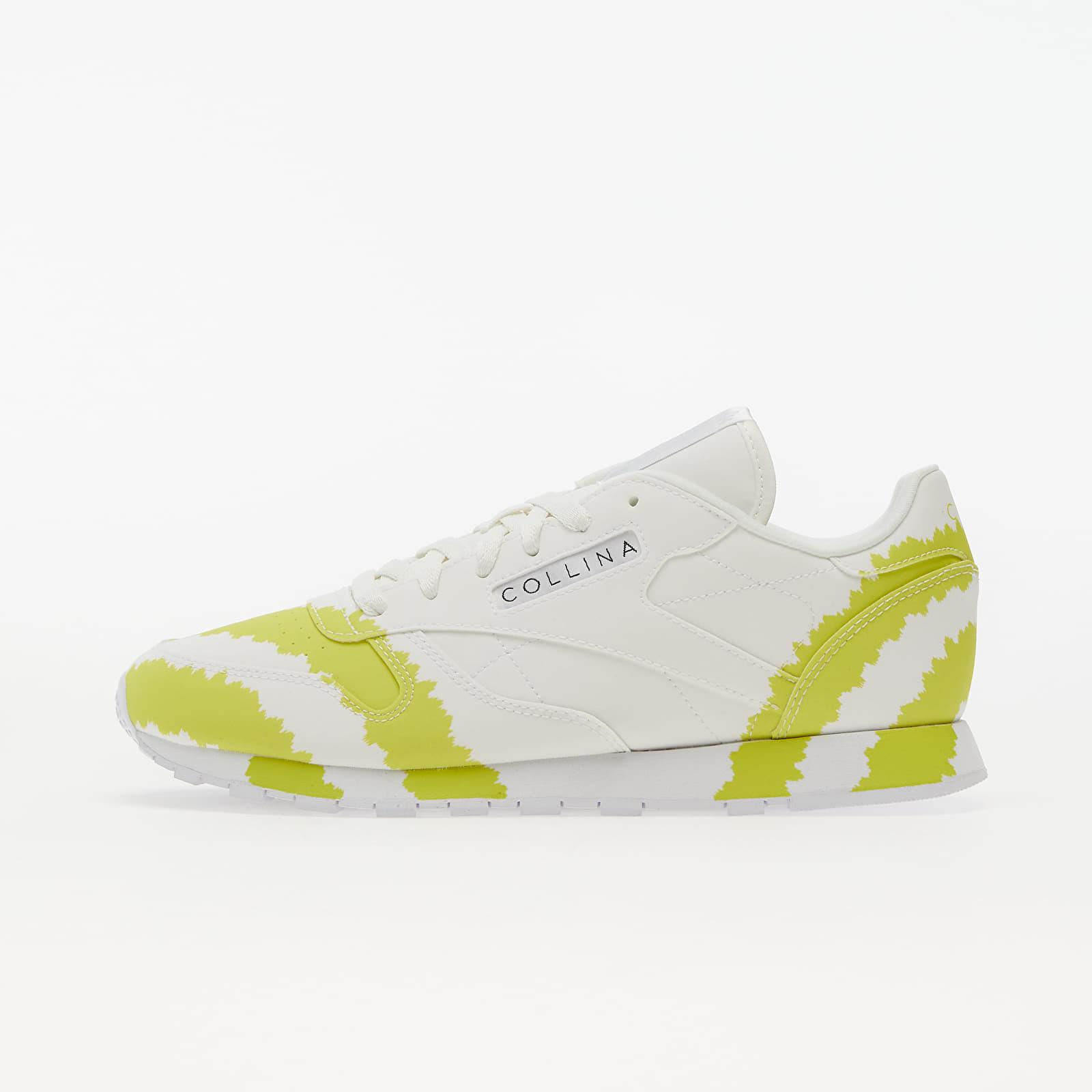 Reebok x Collina Strada Classic Leather Ftw White/ Digital Blue/ Active Yellow EUR 40.5
