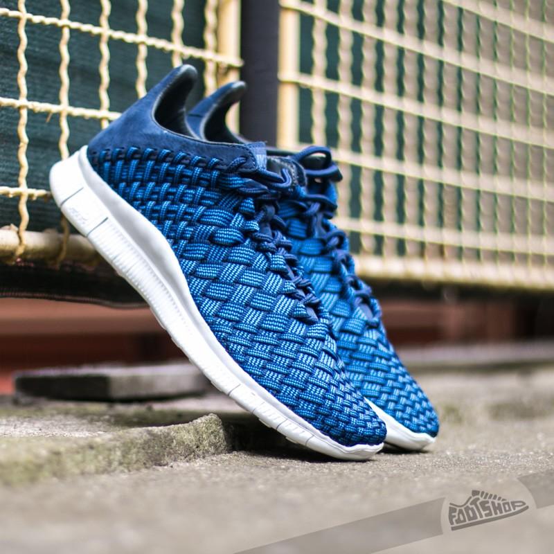 finest selection 6eece 8e2b8 Nike Free Inneva Woven Fountain Blue  Summit White-Mid Navy