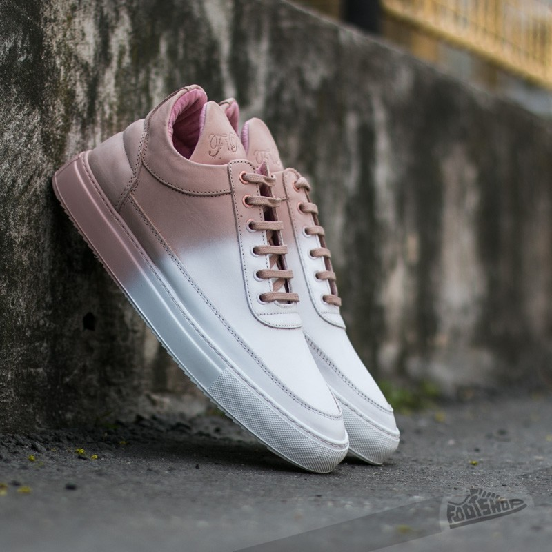 2626584538e241 Filling Pieces Low Top Degrade White  Coral