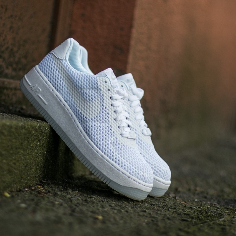 reputable site aa8c0 0dff3 Nike W Air Force 1 Low Upstep BR White/ White | Footshop