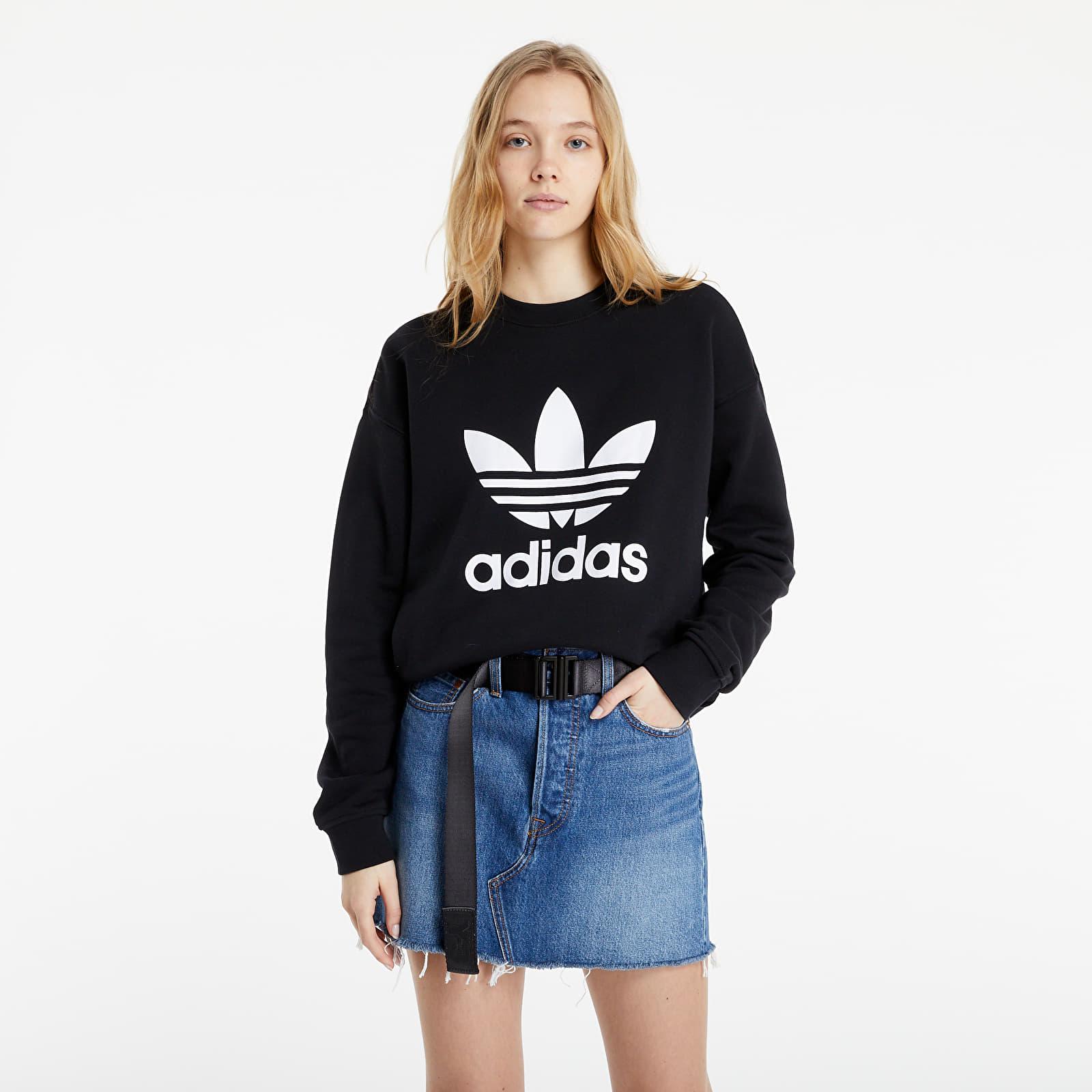 adidas Originals Trefoil Sweatshirt Black/ White S/34