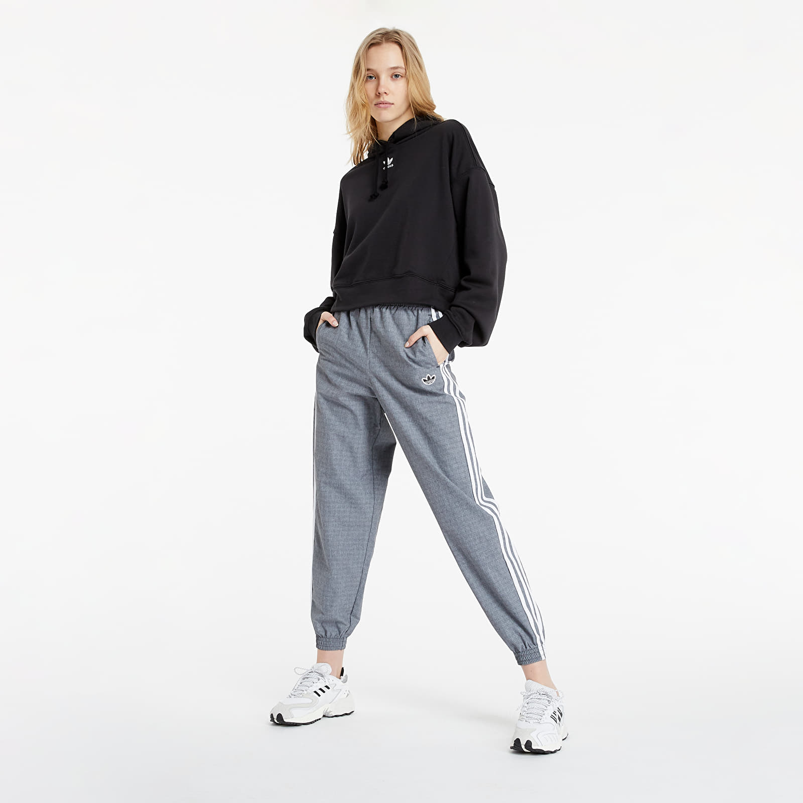 adidas Trackpants Black/ White S/36