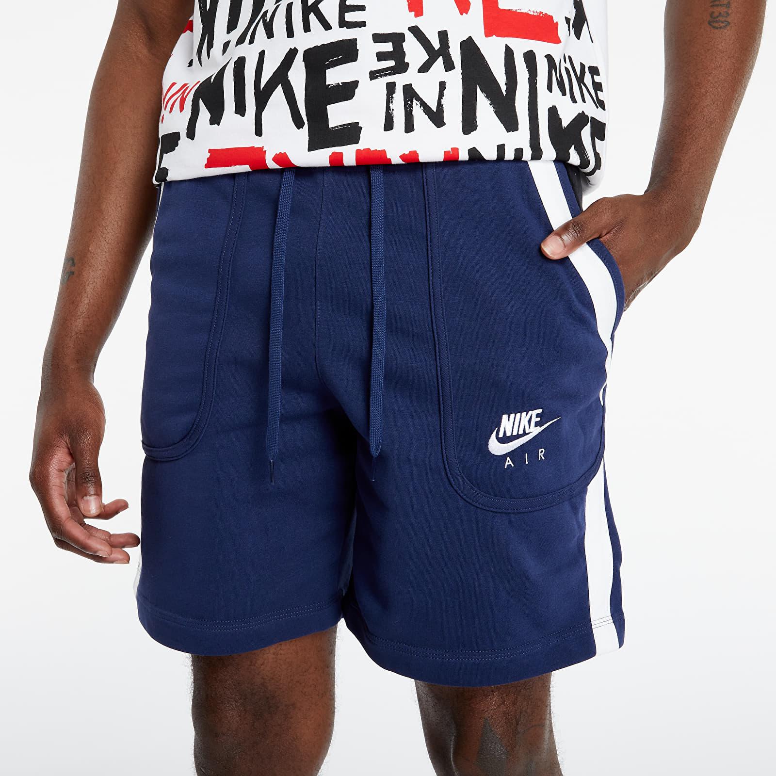 Nike Sportswear Nike Air French Terry Fleece Shorts Midnight Navy/ Black/ White S
