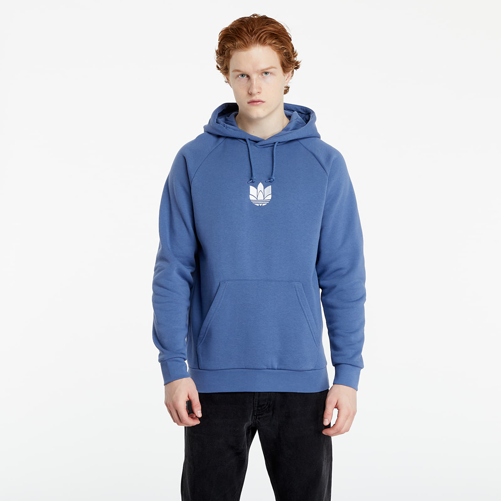 adidas Loungewear Adicolor 3D Trefoil Graphic Hoodie Crew Blue EUR
