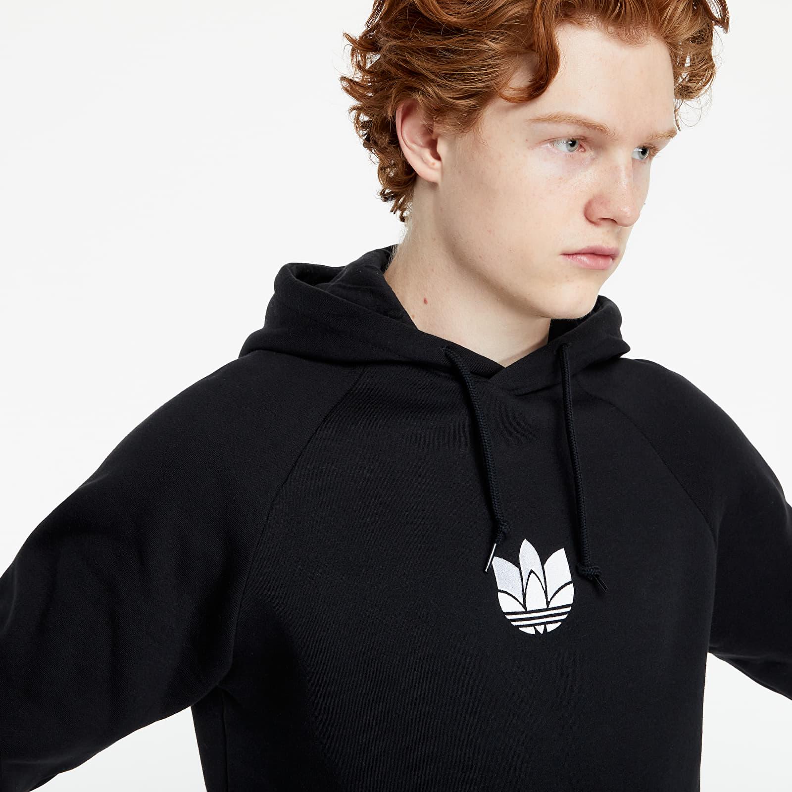 adidas Loungewear Adicolor 3D Trefoil Graphic Hoodie Black EUR