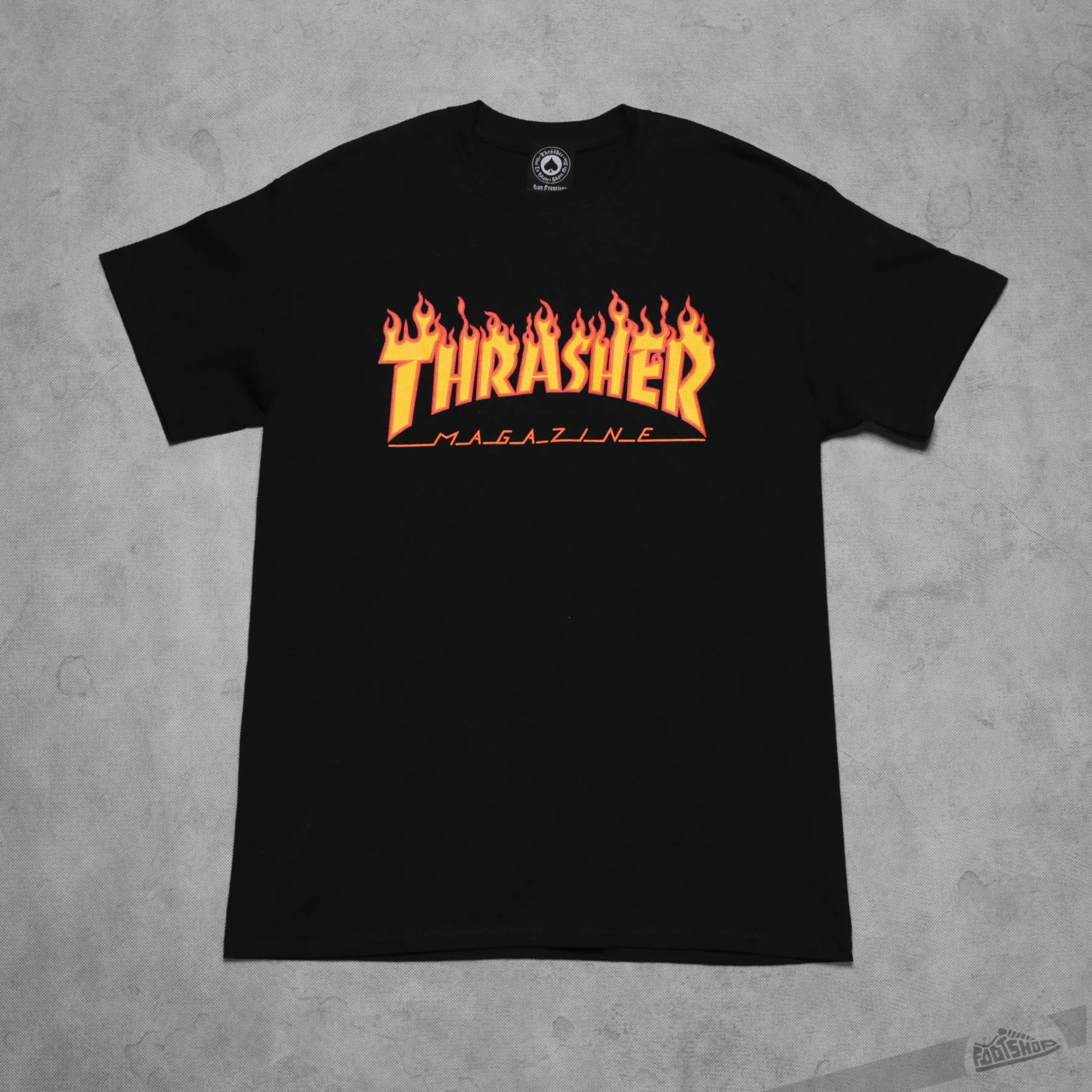 4c387bca Thrasher Flame Logo T-Shirt Black | Footshop