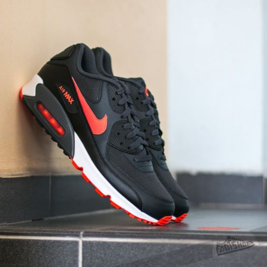 Nike Air Max 90 Essential Anthracite Total Crimson Black White | Footshop