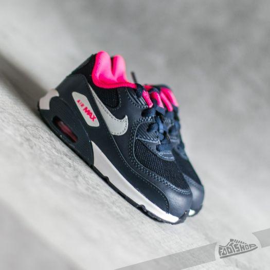 Nike Air Max 90 Mesh (TD) Obsidian Pure Platinum Hyper Pink White | Footshop