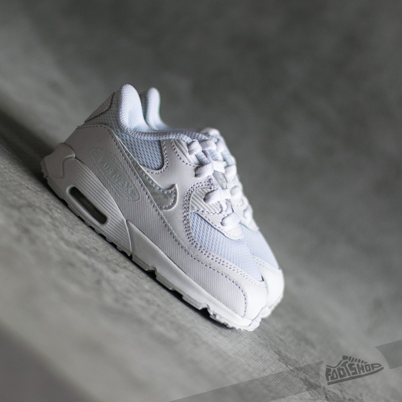 official photos a076e 1504d Nike Air Max 90 Mesh (TD)White  White-Cool Grey