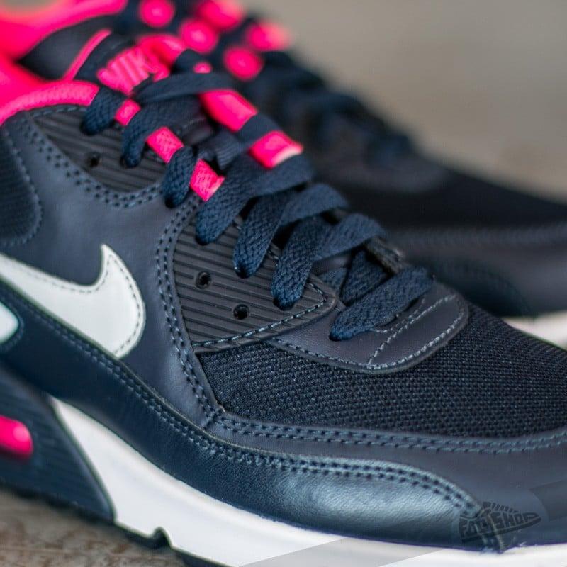 Nike Air Max 90 Mesh (PS) Obsidian Pure Platinum Hyper Pink White | Footshop