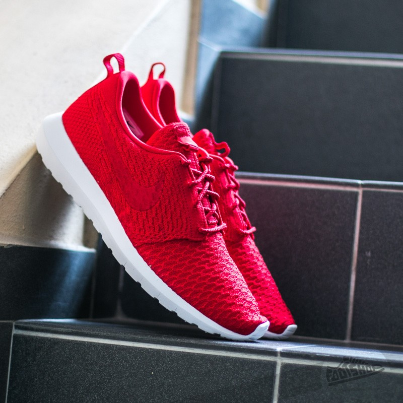 4fd68947a9f6 Nike Roshe NM Flyknit University Red  University Red-White
