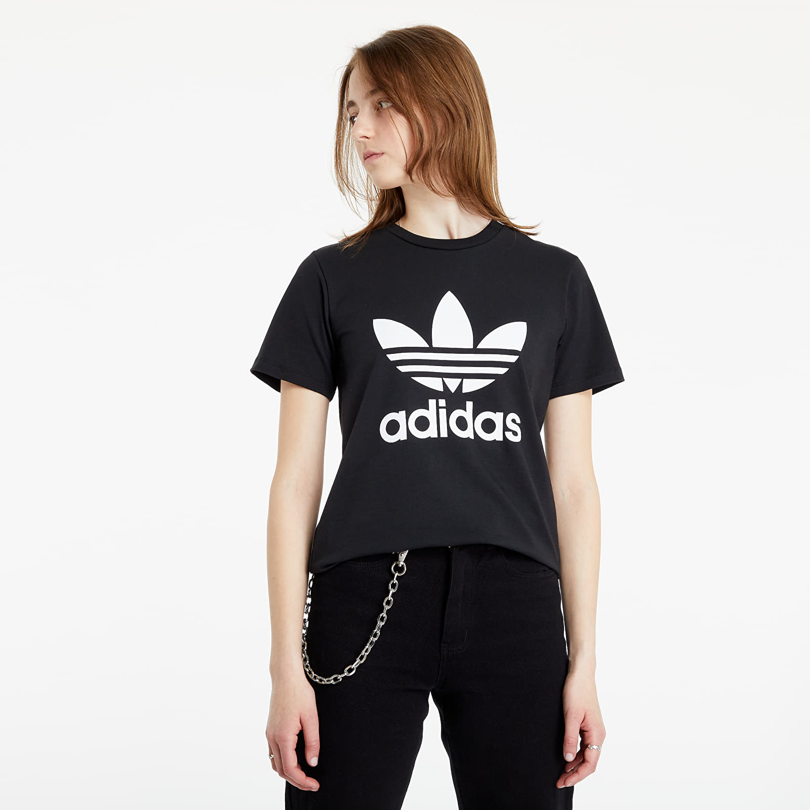 adidas Adicolor Classics Trefoil Tee Black S/36
