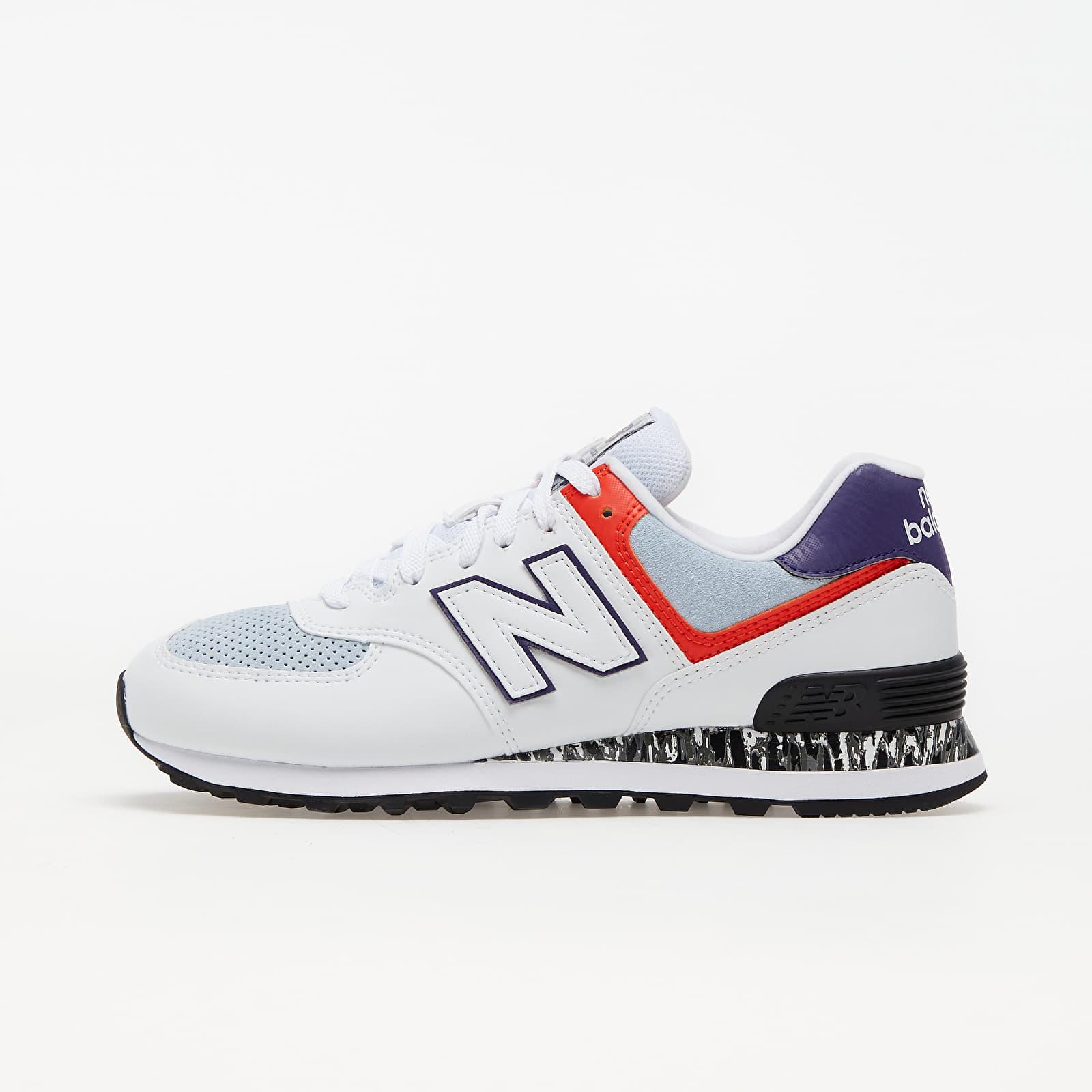 New Balance 574 White/ Orange/ Black EUR 36.5