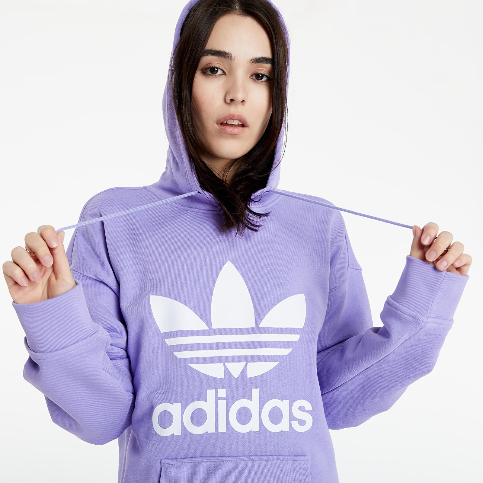 adidas Adicolor Trefoil Hoodie Light Purple S/34