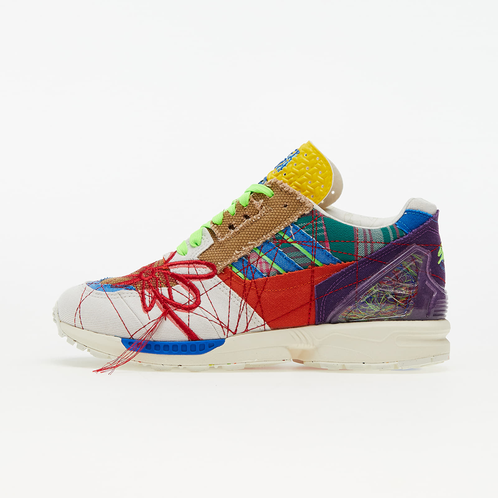 """adidas x Sean Wotherspoon ZX 8000 """"Superearth"""" Off White/ Blue Bird/ Red EUR 38 2/3"""