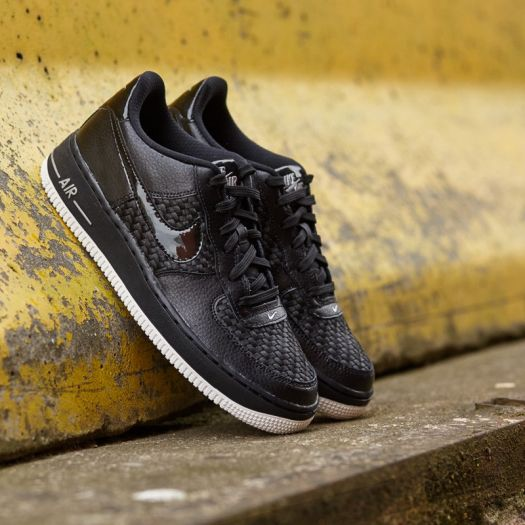 Nike Air Force 1 LV8 (GS) Black Black Summit White Chrome   Footshop