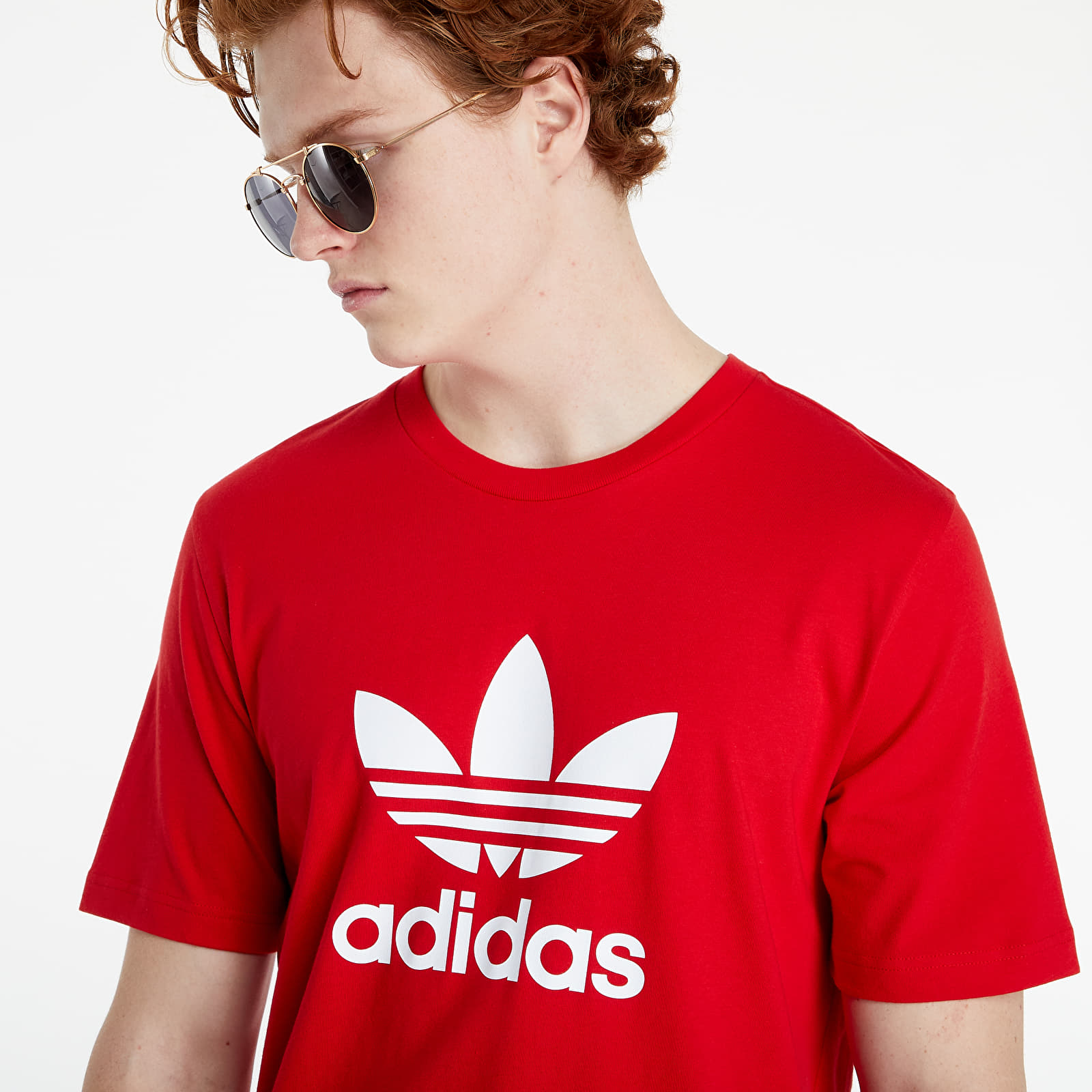 adidas Adicolor Classics Trefoil Tee Scarlet/ White EUR