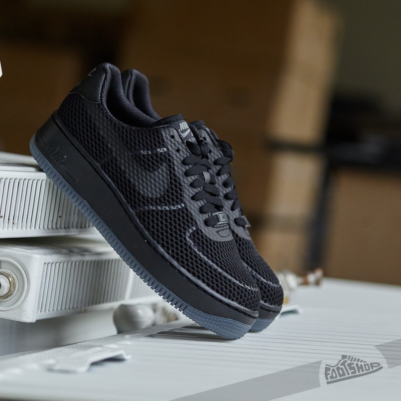 490f89fbf11 Nike W Air Force 1 Low Upstep BR Black/ Black-Cool Grey | Footshop