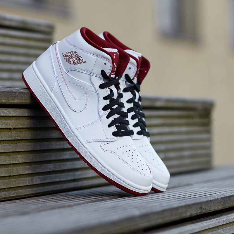 premium selection 54799 7a25f Air Jordan 1 Mid. White  Gym Red-Black