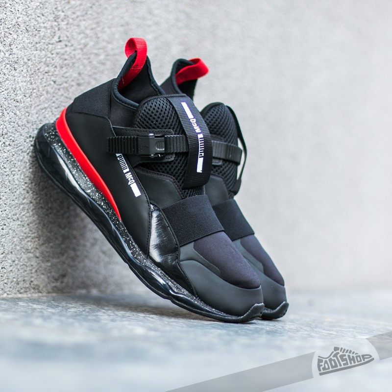Puma McQueen Cell Mid Black-Dark Shadow-Flame Scarlet  2352dc943