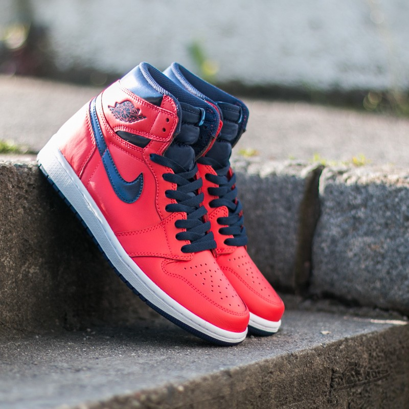 d3defc3fc Air Jordan 1 Retro High OG Light Crimson  Mid Navy  University Blue ...