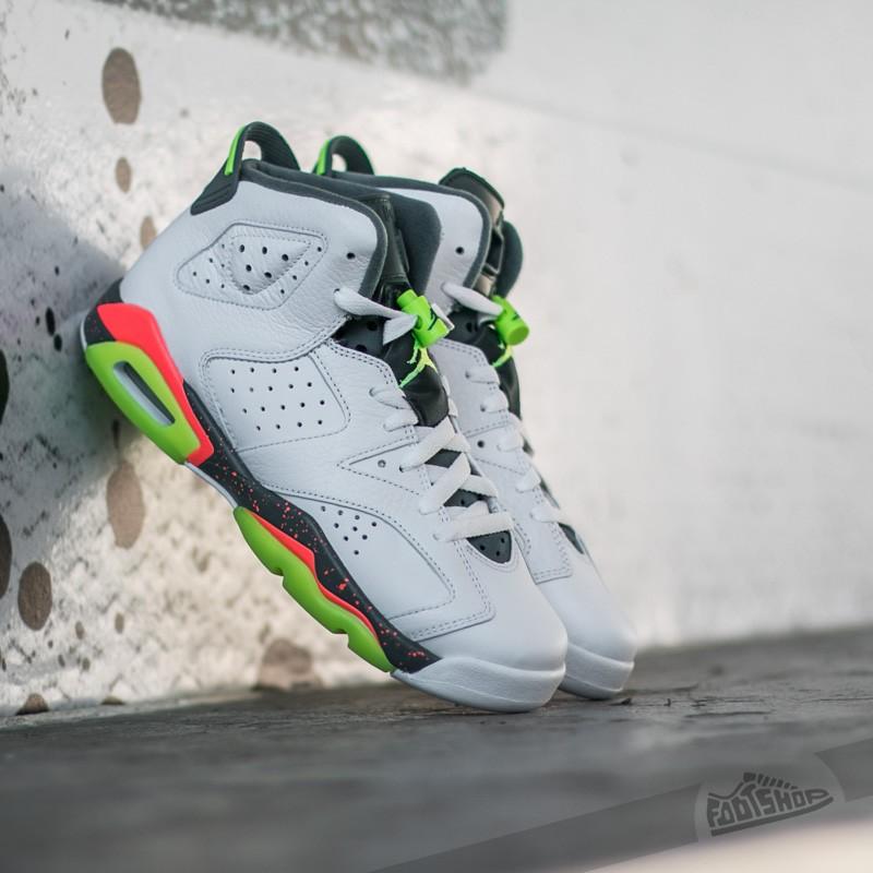 30df23ca85b0 Air Jordan 6 Retro (BG) White  Ghost Green-Hasta-Bright Mango ...