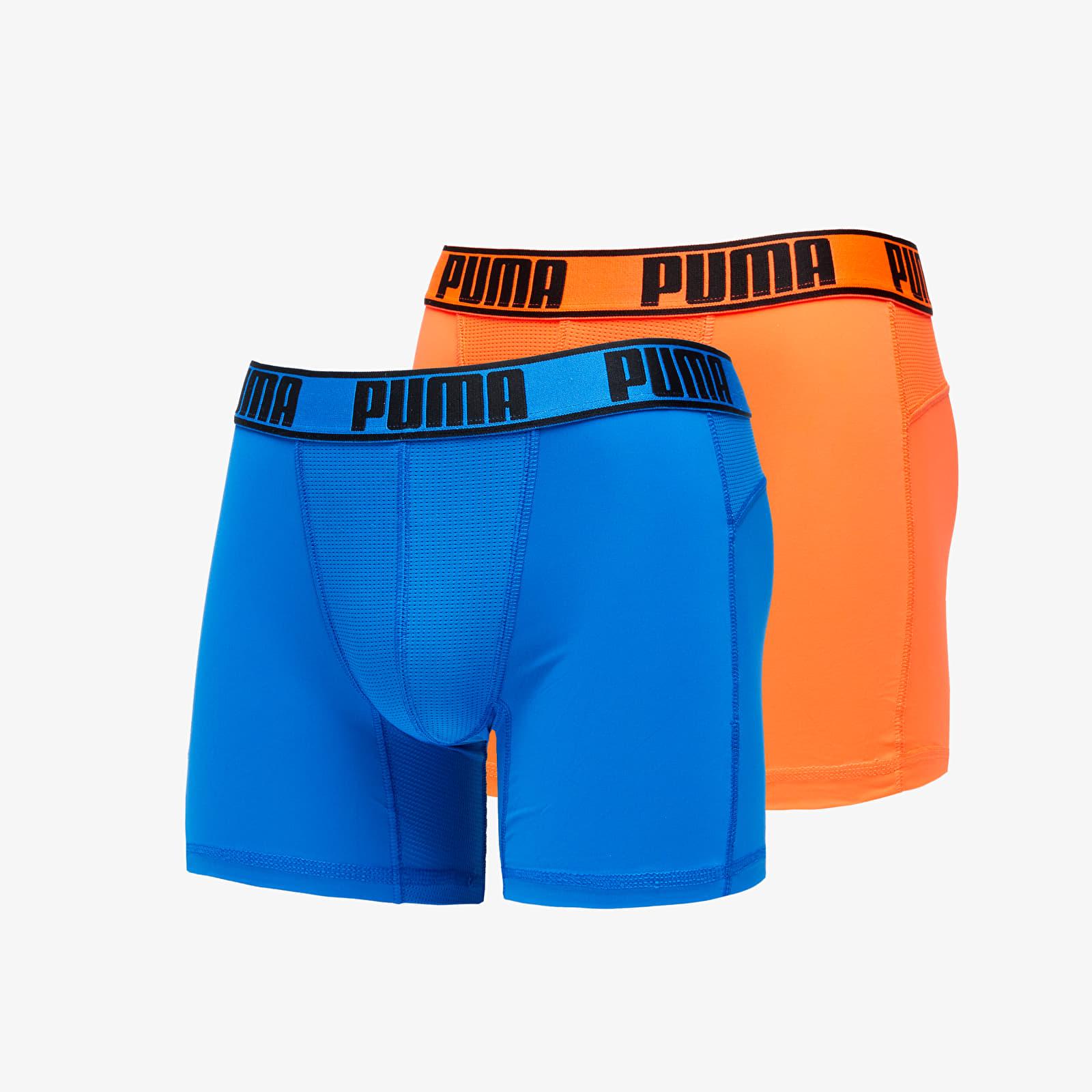 Puma 2 Pack Active Boxers Packed Blue/ Orange   Footshop