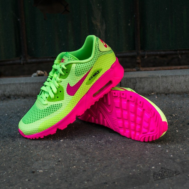 Nike Air Max 90 BR (GS) Ghost Green Pink Blast Black