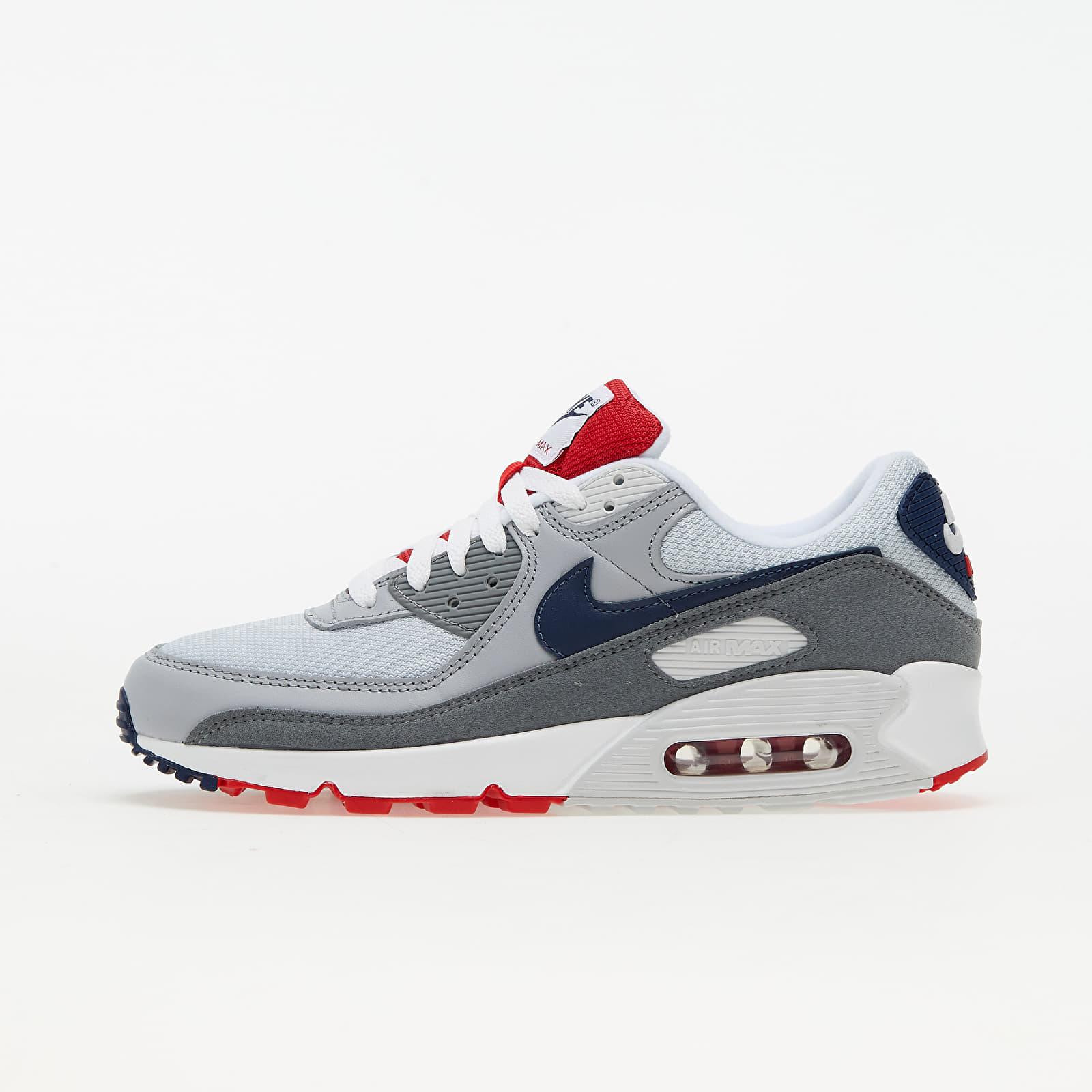 Nike Air Max 90 Pure Platinum/ Midnight Navy-Wolf Grey | Footshop