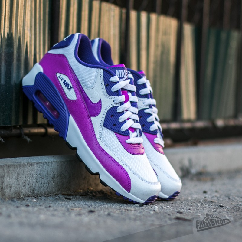 e7fe8e1d936 Nike Air Max 90 Mesh (GS) White  Hyper Violet-Court Purple-Black ...