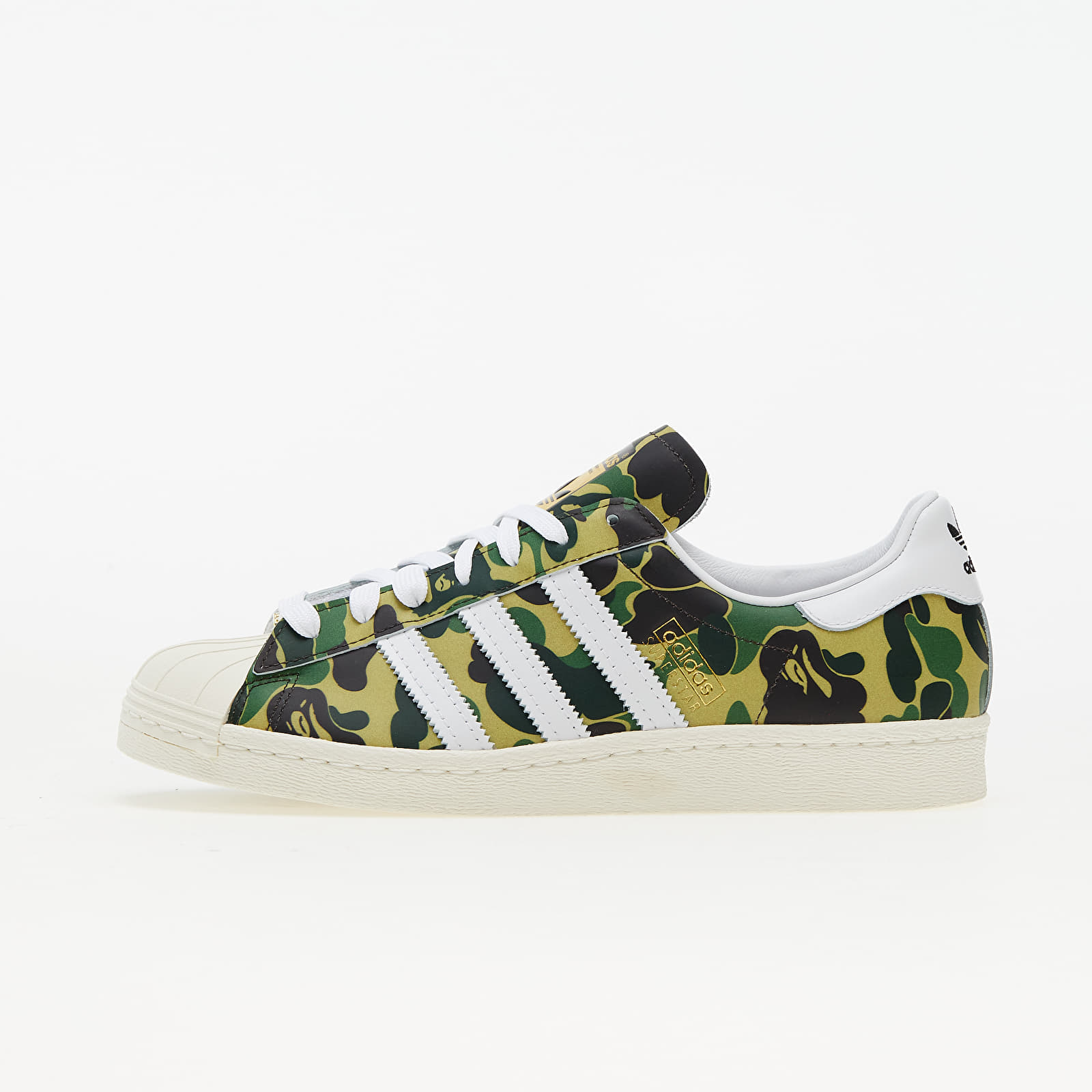 adidas x Bape Superstar 80s Off White/ Ftwr White/ Gold Met. | Footshop
