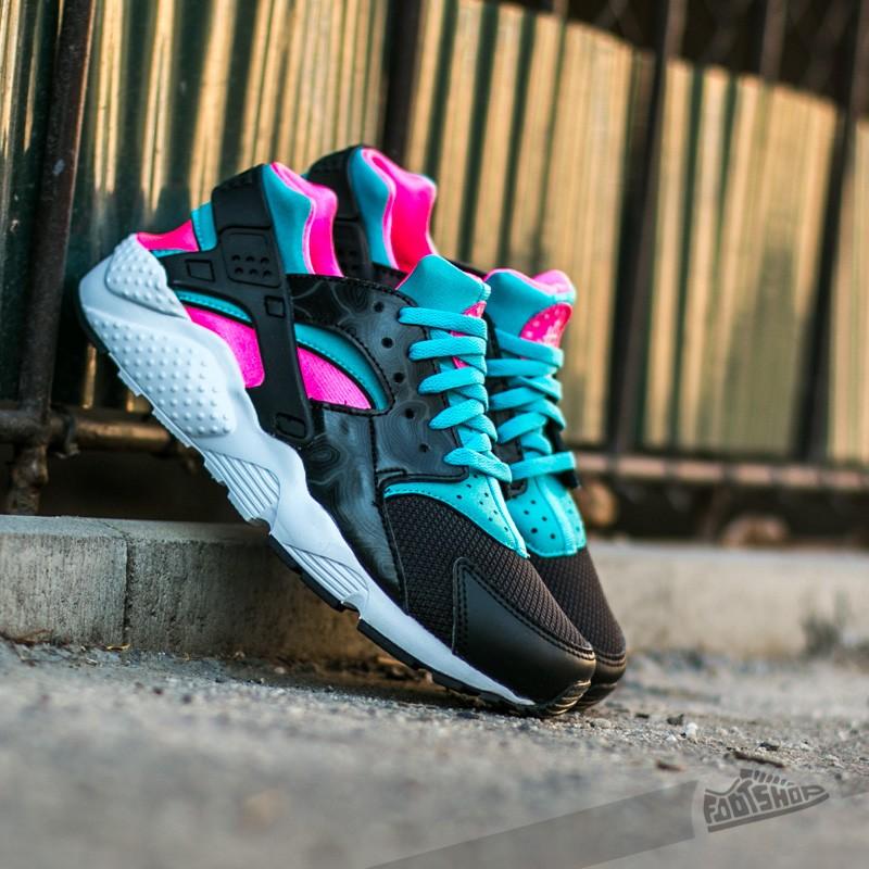 388c126515ba Nike Huarache Run (GS) Black  White-Pink Blast-Gamma Blue ...