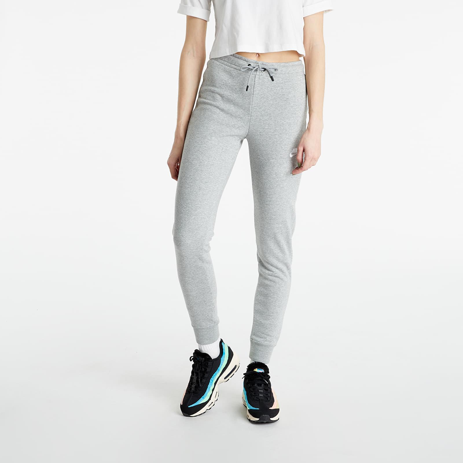 Nike Sportswear W Essential Fleece Mr Pant Tight DK Grey Heather/ White