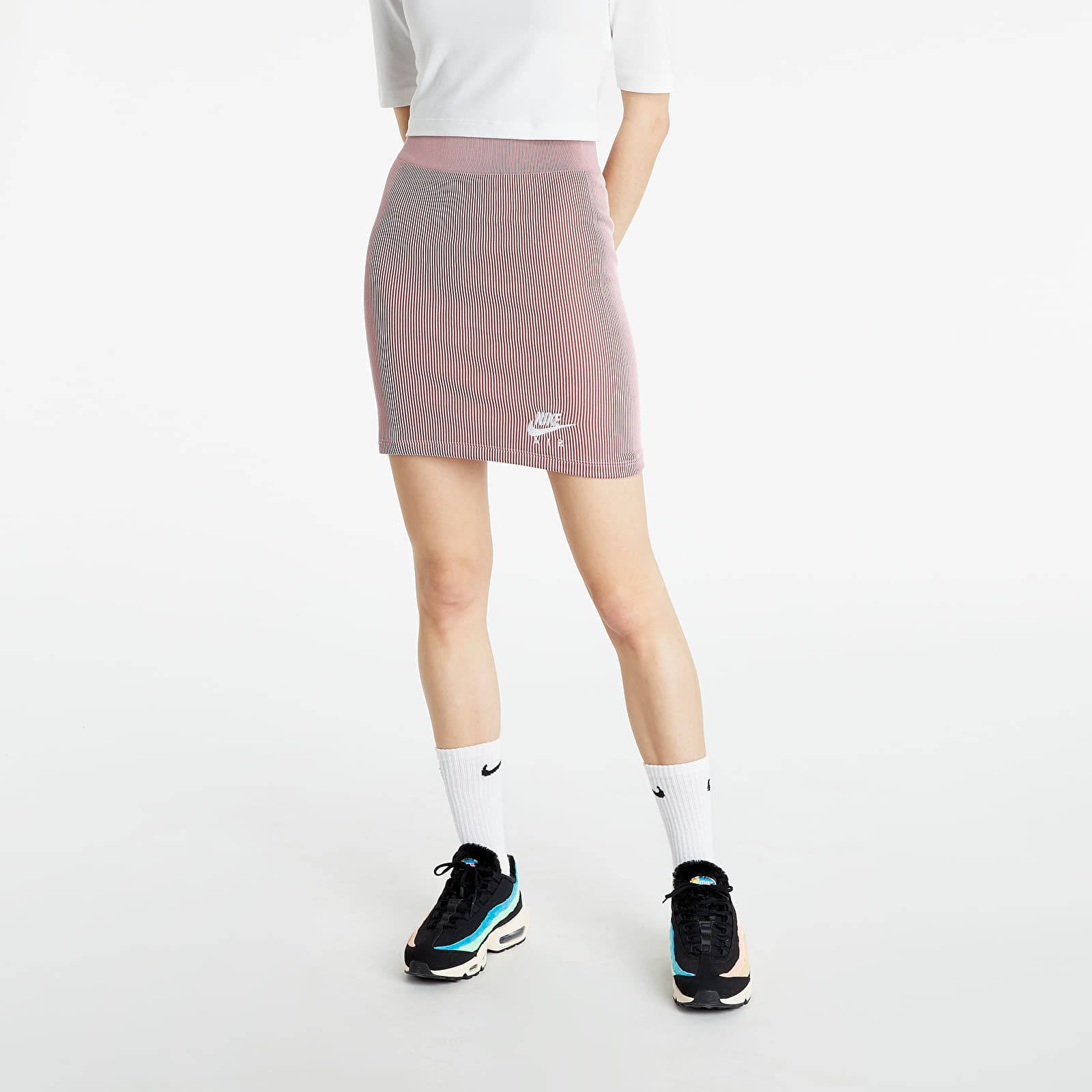 Nike Sportswear W Air Skirt Rib Pink Glaze/ White