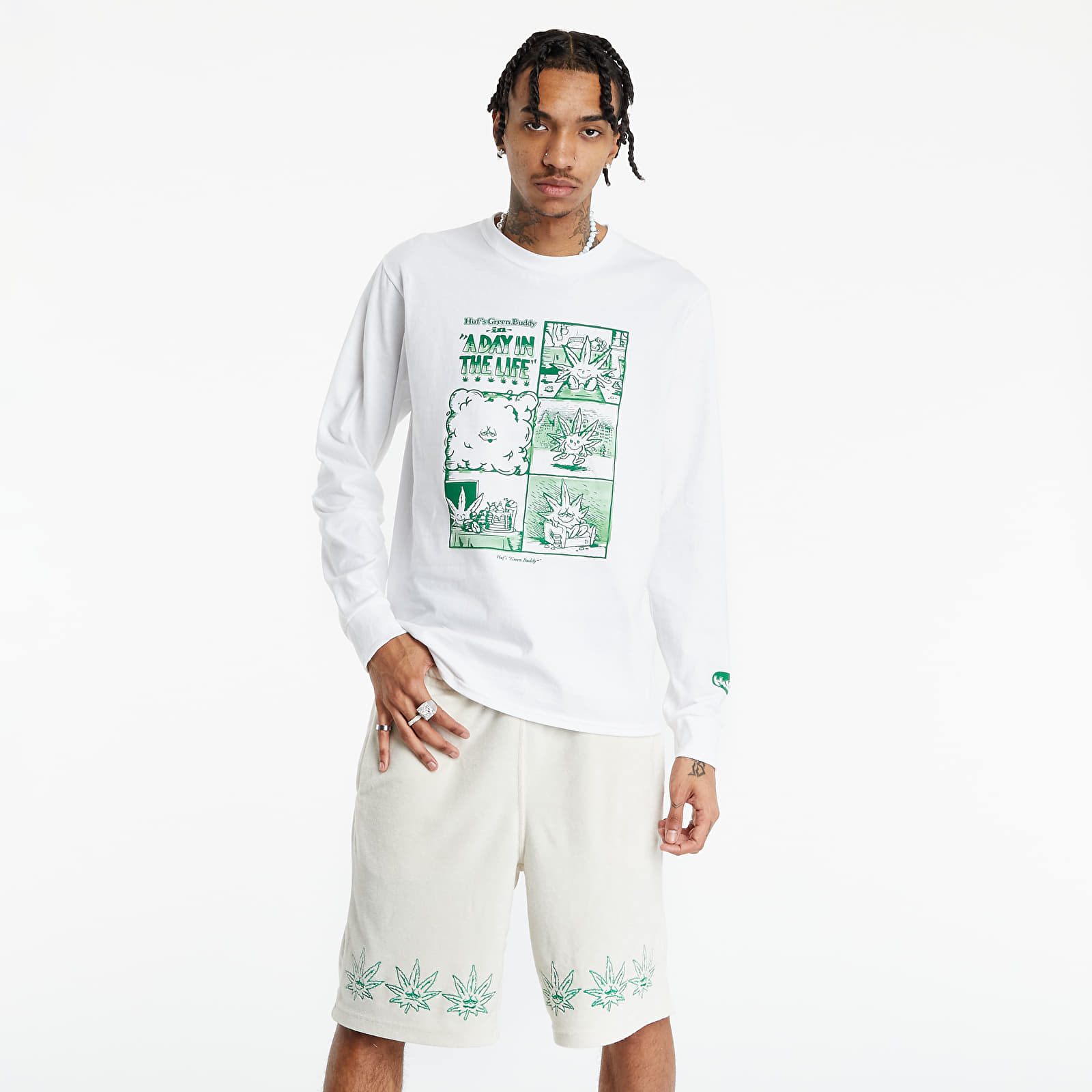 HUF Day in The Life Tee White XL